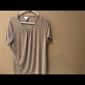 Jaclyn Smith Women's Blouse Large Nude color Top